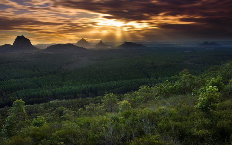 VISIT ICONIC GLASS HOUSE MOUNTAINS